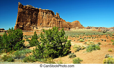 scenic nature vibrant landscape capture from utah arches -...