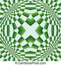 óptico, ilusão, Expansão