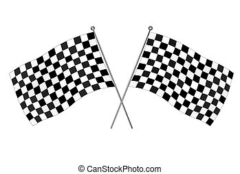Checkered flags, motocross racing flag - vector illustration...