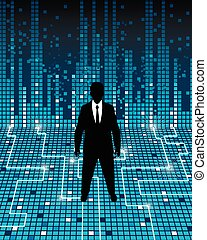 Business and high tech - Vector illustration of a...