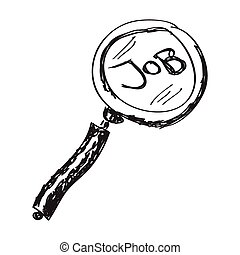 Simple doodle of a job search