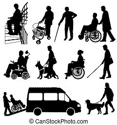 Behinderte Personen.eps - disabled people
