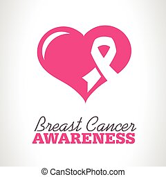 Pink Breast Cancer Awareness Icon