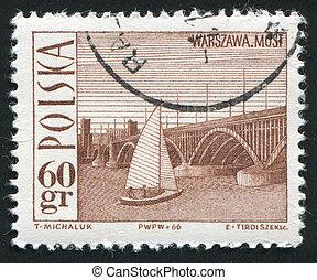 postmark - POLAND - CIRCA 1966: Wadysaw Tatarkiewicz was a...