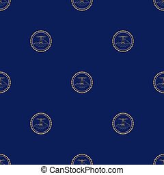 Seamless Pattern with Lighthouse - Seamless Pattern with...