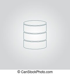 Database icon - Database. Flat web icon or sign isolated on...
