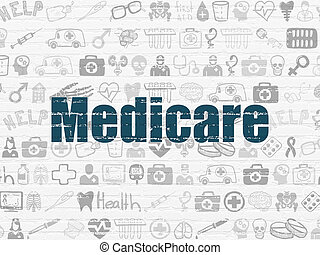 Healthcare concept: Medicare on wall background