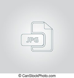 JPG image file extension icon - JPG image file extension...