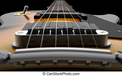 Electric Guitar Abstract - An abstract closeup of the body...
