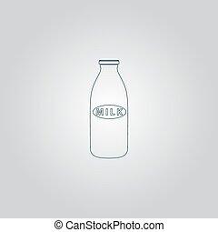 milk bottle icon