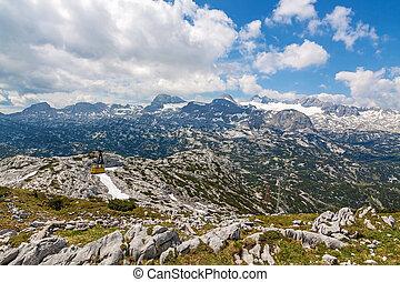 Dachstein funicular - Obertraun, Austria - June 27, 2014: On...