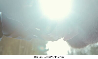 Love - romantic couple holding hands, HD