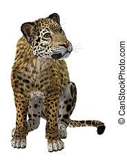 Big Cat Jaguar - 3D digital render of a big cat jaguar...