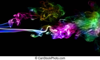 Abstract Colorful Smoke Turbulence