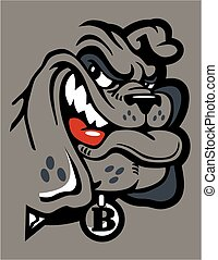 smirking bulldog  - cute smirking bulldog mascot