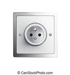 electrical power socket - electrical outlet in the EU, power...