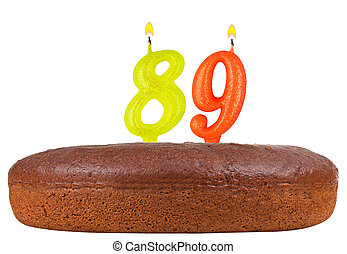 birthday cake candles number 89 isolated - birthday cake...