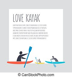 """vector flat design style illustration with signature """" love..."""