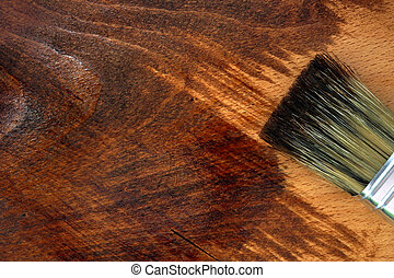 Staining wooden surface. DIY - Staining wooden surface. Home...