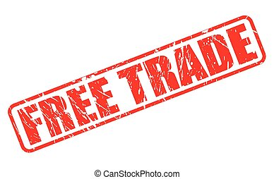 Free trade red stamp text on white
