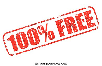 100 percent FREE red stamp