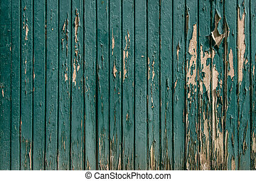 Wooden background with worn paint