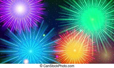 Firework, Seamless Loop - Fullhd 1920x1080 Progressive...