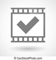 Photographic film icon with a check mark - Illustration of a...