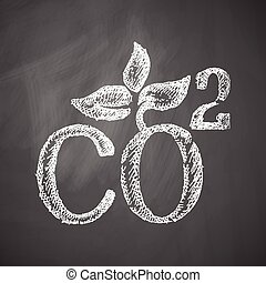 co2 sign dioxide icon