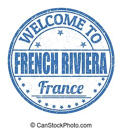 Welcome to French riviera stamp - Welcome to French riviera...