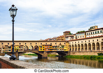Ponte Vecchio view on Arno River, Florence, Italy