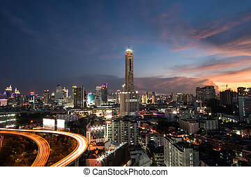 Bangkok city view at night time