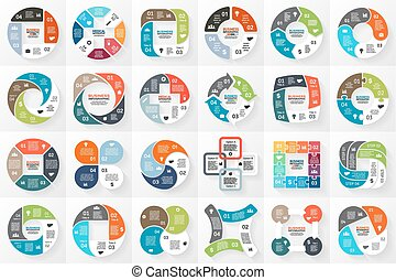 Vector circle infographics. Template for cycle diagram,...