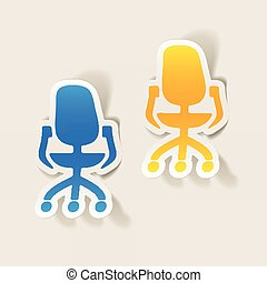 realistic design element: office chair