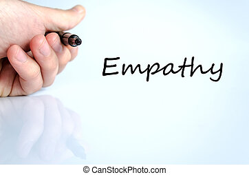 Empathy Text Concept - Empathy text concept isolated over...