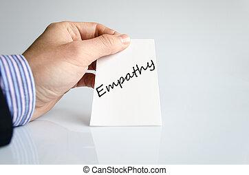 texto, concepto, Empatía