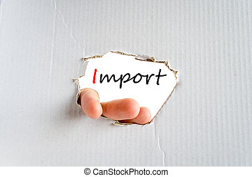Import Text Concept - Import text concept isolated over...