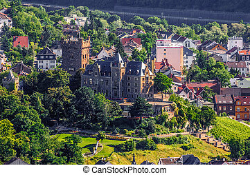 Klopp Castle in Bingen am Rhein, Rheinland-Pfalz, Germany.