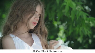 Make My Dream Come True - Lovely little girl telling white...
