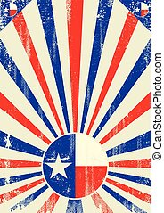 Texas vintage sunbeams - A vintage Texan poster with...