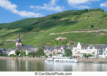 Zell,Mosel Valley,Germany - the popular Wine Village of Zell...