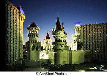 Las Vegas at night - Las Vegas, Nevada, USA - September 19,...