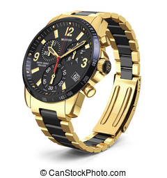 Swiss golden wrist watch