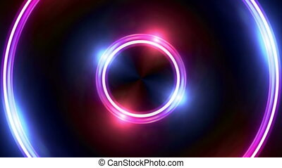 red blue Lens ring flares double circle - The circle shape...