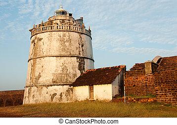 Goa - The lighthouse at Fort Aguada, Goa, India