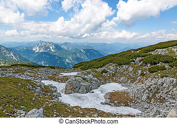 Dachstein - path to the Five Fingers viewing platform -...