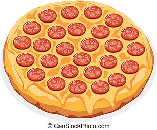 vector illustration of italian pizza