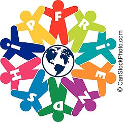 vector people friendship icon