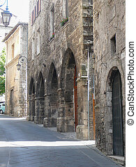 View of Anagni - View of the city of Anagni, Italy