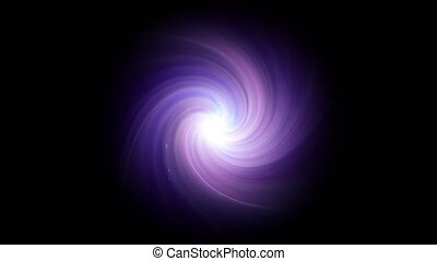 twirl of lens purple flare isolate - The twirl is rotating...